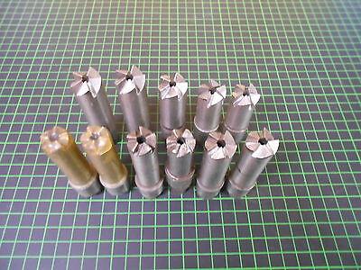11 x Flachsenker mit Kurzkegelbefestigung / Ø 14,5-20 mm / 5mm Zapfen