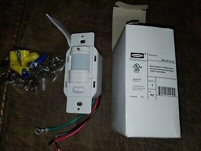 Hubbell Iws-zp-3p-w White Motion Sensor Pir Wall Switch Push Button