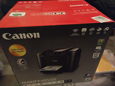 NEW Canon MAXIFY MB5420 All-In-One Inkjet Printer/Fax/Copier/Scanner With Duplex