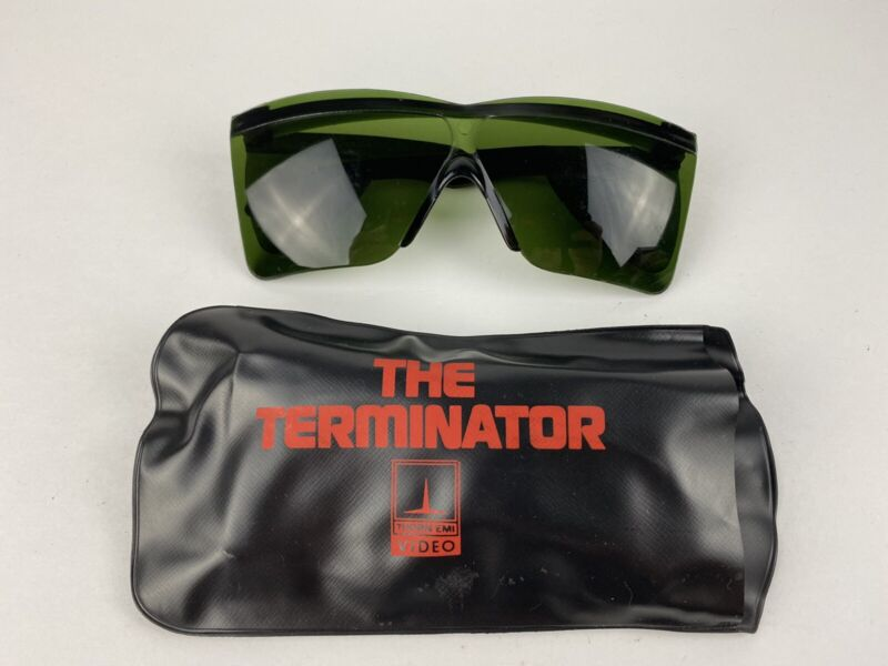 The Terminator Sunglasses 1985 Promo Thorn EMI Video VHS with Case Rare Vintage