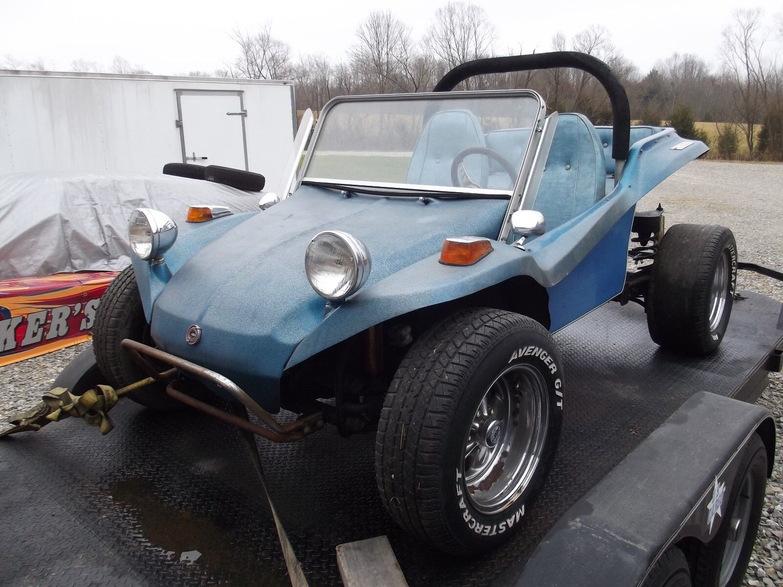 Vintage 1960's Dune Buggy Sears Rascal Corvair Engine Terra Buggy Project Car