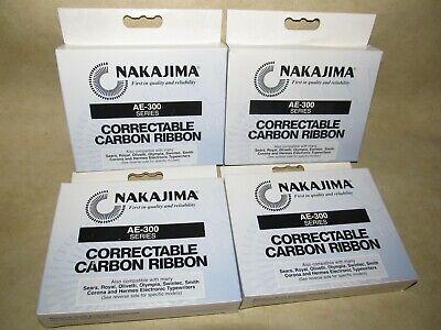 Nakajima Ae-300 Correctable Carbon Ribbon Lot Of 4 Sears Royal Olympia