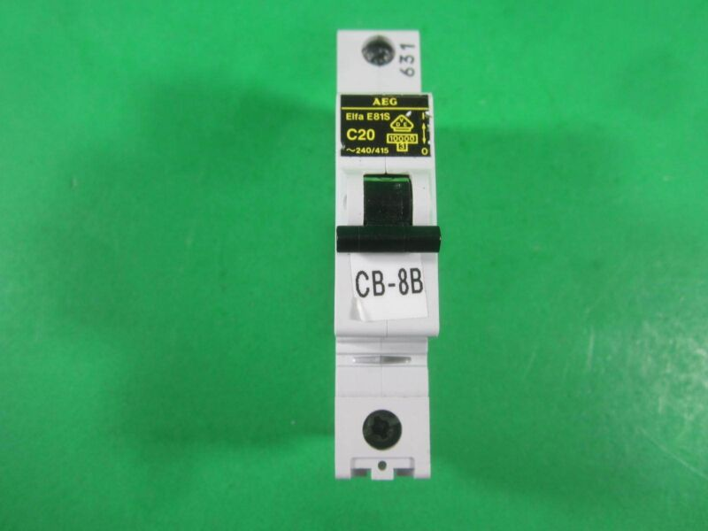 AEG Elfa E81S Circuit Breaker -- C20 -- (Lot of 2) Used