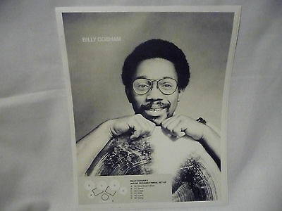 "BILLY COBHAM - 9.5"" X 12"" PICTURE/PHOTO/POSTER - ZILDJIAN CYMBALS"