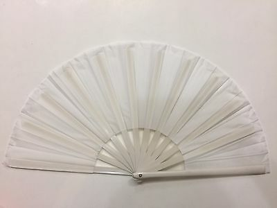 CHINESE MARTIAL ART  PLAIN WHITE PLASTIC KUNG FU TAI CHI TRAINING FAN