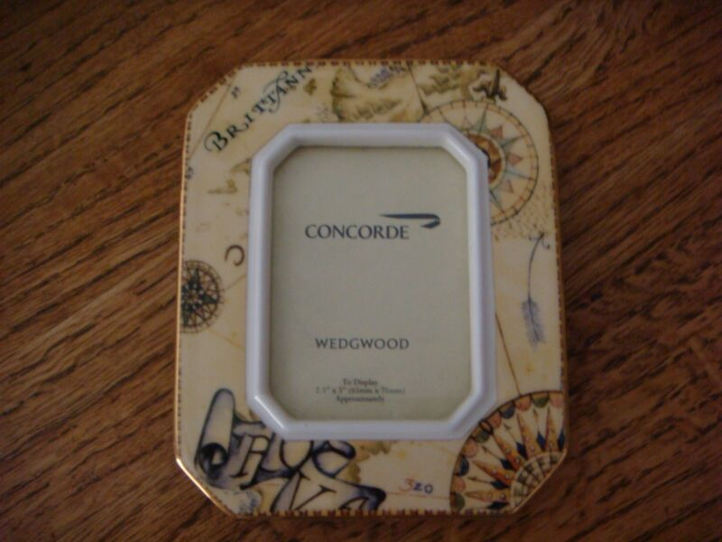 Concorde - British Airways - Wedgwood Bone China- Atlas Picture Frame.