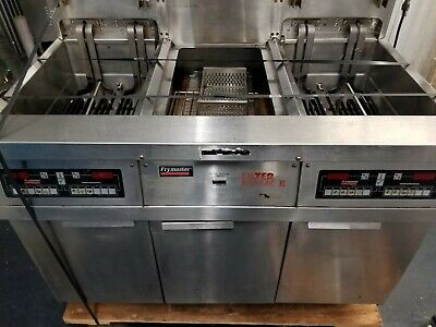 Frymaster Electric Double Digital Fryer With Heated Dump Station 2 Vat