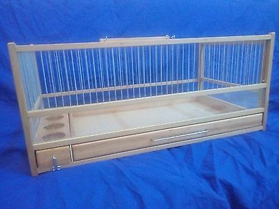 Button Quail Cage :: Hand Crafted Wooden Quail Cage / Slide Out Tray, (Button Cage)