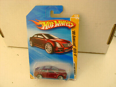 2010 HOT WHEELS NEW MODELS RED '09 CADILLAC CTS-V NEW ON CARD