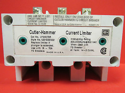 Cutler-hammer Current Limiter Cat No. Lfd3070r ............ Wj-77