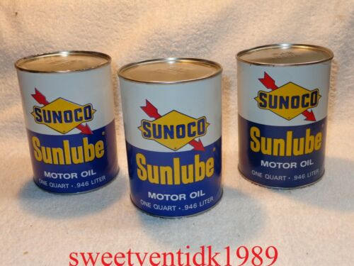(1)...'NOS' Vintage SUNOCO Sunlube Motor Oil Can....Oil Can....EMPTY