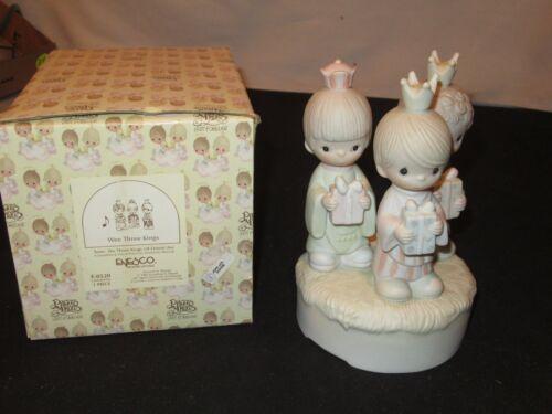 Precious Moments Musical Wee Three Kings E-0520 Figurine w/ Box (FF66)