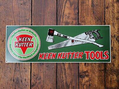 Vintage Keen Kutter Tools Metal Sign Axe Saw Knife Hammer Hatchet Simmons