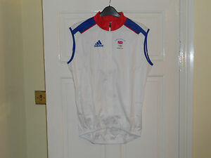 ADIDAS-Team-GB-Beijing-Olympics-2008-Issue-cycling-bike-shirt-wind-vest-gilet