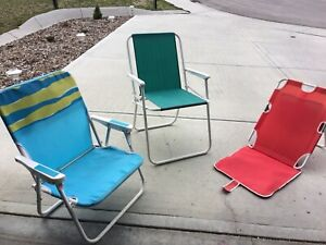 Beach and yard lawn chairs