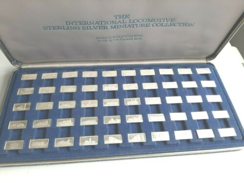 Franklin Mint International Locomotive sterling silver miniature collection