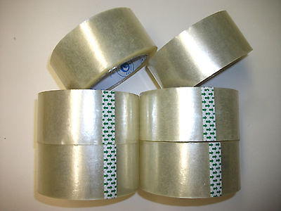 Clear TAPE PACKAGING PACKING SEALING MOVING 25 Rolls 1.88 inch X 78.7 Yard