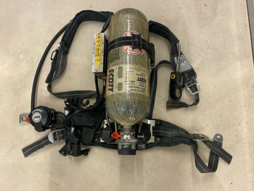 Scott 3.0 Air Pack SCBA Harness with 3000 Carbon Tank - EZ FLO Regulator