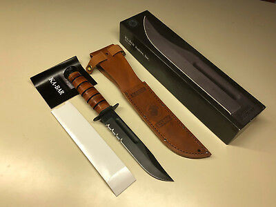 KA-BAR USMC Marines Fixed Fighting Hunting Knife Blade W/Sheath & Original Box for sale  Shipping to Canada
