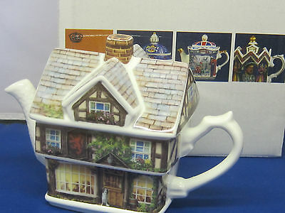 James Sadler  RED LION  Collector Tea Pot, fine bone china, england