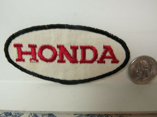 Vtg. Honda Motorcycle Embroidered Patch