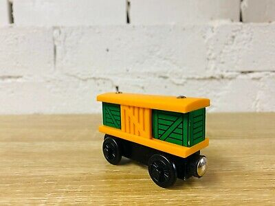 Yellow Box Car - Thomas the Tank Engine & Friends Wooden Railway Trains