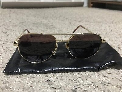 Ski Optiks Gold Rim Mirror Sunglasses #107 with Black (Skiing With Sunglasses)