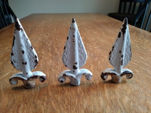 Set of 3 Antique Cast Iron Fence Finials