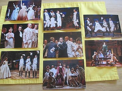 NEW HAMILTON BROADWAY MUSICAL NYC ORIGINAL CAST 8 PHOTO SET Lin Manuel Miranda