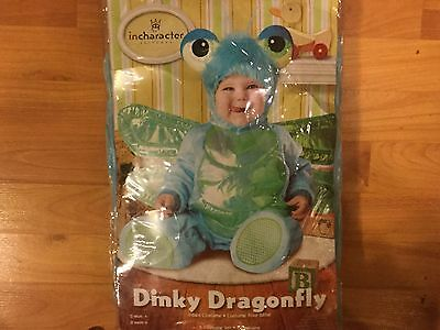 NEW InCharacter Costumes Baby's Dinky Dragonfly Halloween Baby 6/12 Months LOOK