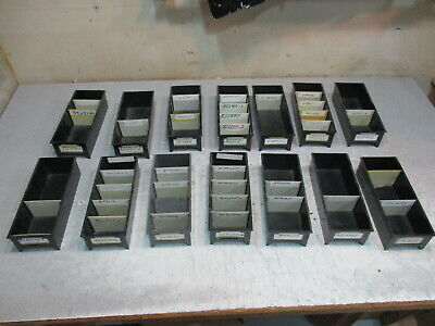 Lot Of 14 Black Plastic Parts Storage Bins 5 W X 12 L X 3 14 H Maximize Space