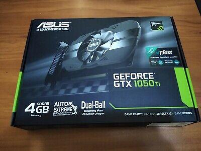 NEW SEALED ASUS Nvidia GeForce GTX 1050 Ti 4GB GPU VRAM Graphics Card PC Gaming
