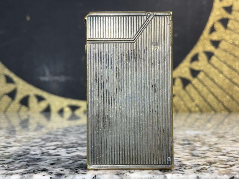 Vintage Original 1930s DUNHILL MK 1 Broadboy Silver Plated Lighter