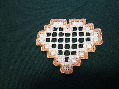 Hardanger Heart   Norwegian Embroidery Cut Work Rose