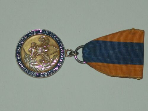For Meritorious Action medal - handled - safety pin missing - very good