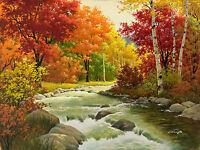 Poster A3 Pintura Paisaje Natural Nature Landscape Painting 01 - natura - ebay.es