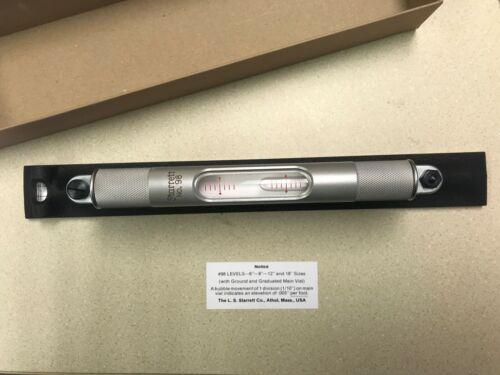 """12"""" PRECISION MACHINIST LEVEL - STARRETT #98-12 EDP #50443  - new in box"""