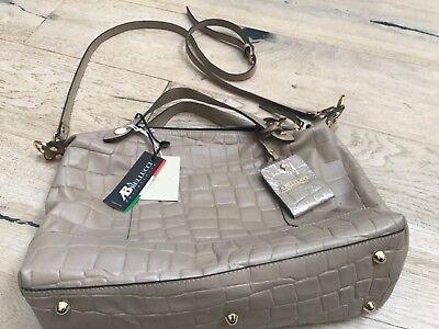 AB A. Bellucci Italian Leather Designer Handbag New