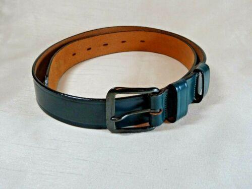 "Vintage Girl Scouts Green Leather 30"" Belt"