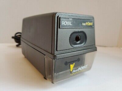 Royal Power Point Electric Pencil Sharpener With Auto Stop Tested Fast Free Ship