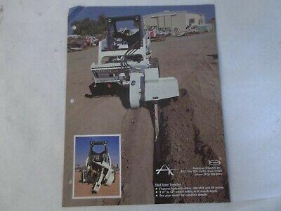 Bradco Skid Steer Trencher And Model 420 Auger Backfiller Brochure