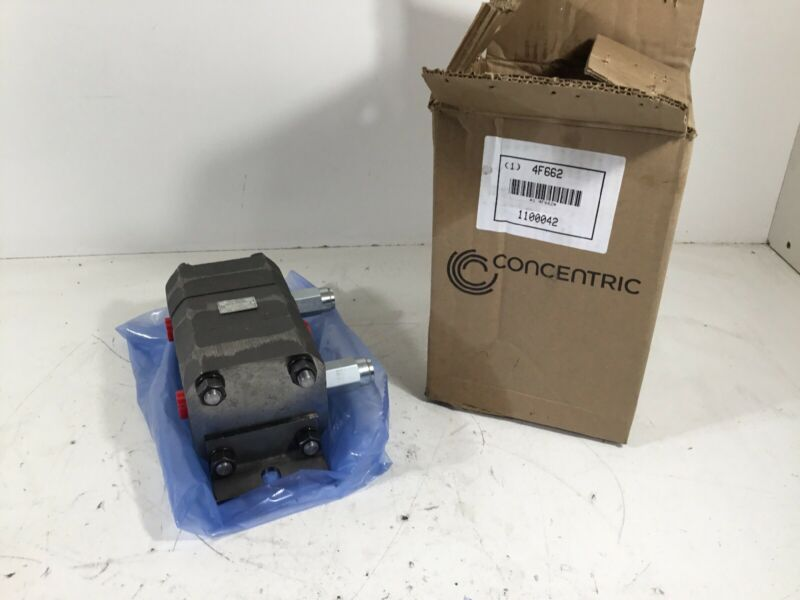 """NEW Concentric 1100042 Rotary Gear Hydraulic Flow Divider  9.85""""x4.25""""x4"""" 4F662"""