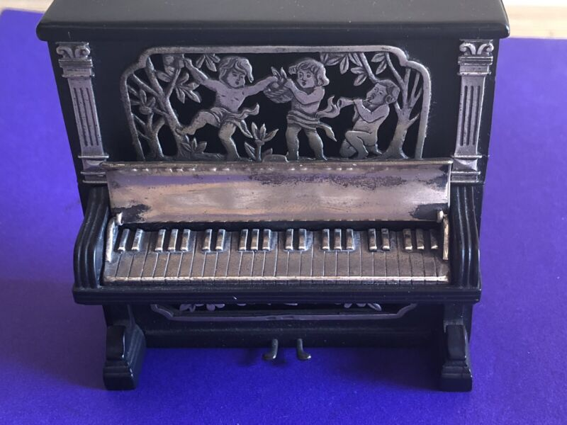 Antique  Silver Miniature Piano By Sacchetti , Italy