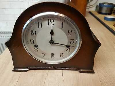 BEAUTIFUL ART DECO WESTMINSTER CHIMING MANTLE CLOCK FULLY RESTORED.