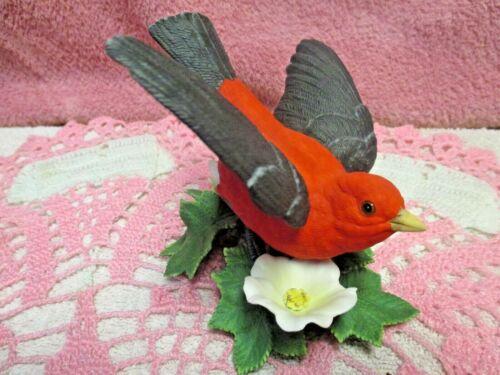 Lenox Scarlet Tanager Fine China Porcelain Garden Bird Collectible