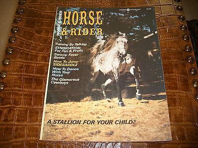 HORSE AND RIDER MAGAZINE AUGUST 1977