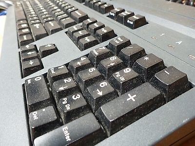 Lot 2X   G81 8000Hpcus   Doubleshot   Cherry G81 8000 Keyboard Black Card Reader