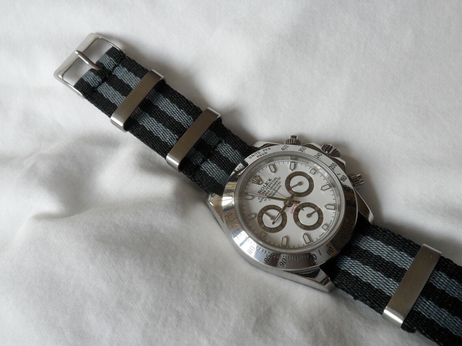 James Bond Watch Strap to fit Nato Strap fits Rolex Daytona