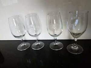 4 x port glasses - port, wine, champagne Riverwood Canterbury Area Preview