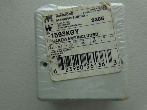 """Hammond 1593KGY Enclosures, Boxes, & Cases ABS, Instrument 2.6x2.6x1.1"""" Grey"""